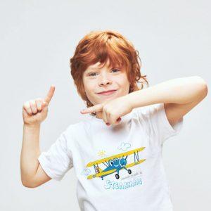 camiseta infantil aviones