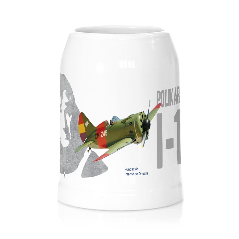 Jarra cerveza avión Polikarpov I16 FIO